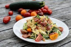Cudle s vajíčkem a slaninou