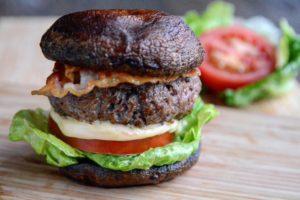 Burger s žampiony Portobello